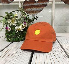 LEMON Baseball Hat Low Profile Embroidered BURNT ORANGE Burnt Orange cfa564cb6be9