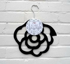 Scarf Holder - Black Rose Scarf Hanger - Perfect Mothers Day Gift!: Amazon.co.uk: Kitchen & Home