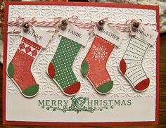 "pinterest christmas card ideas | You could even get a stamp made up ""The Ackerson's"""