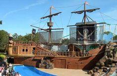 Pirate ship at SeaWorld Orlando, Florida