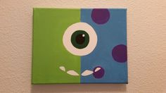 disney, halloween, Monsters Inc. inspired painting, nursery decor, children's room decor, Mike and Sully, gift by AKAmoms on Etsy https://www.etsy.com/listing/242813519/disney-halloween-monsters-inc-inspired