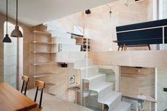 Je vous présente cette maison-boutique baptisée «Tsubomi Home» dessinée et réalisée par les architectes japonais de Flathouse. Cette habitation comprenan