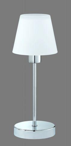 5955 - TRIO - dotyková lampa - chróm - biele matné sklo