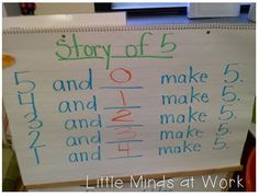 """""""Story of___""""  Teaching beginning concepts of number bonds & addition!"""