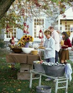 A Backyard Party by elisa