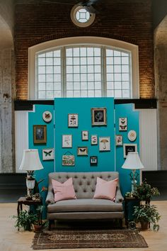 Wes Anderson Inspired Wedding Lounge