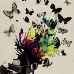 butterfly effect piano music art inspiration design illustration drawing painting « « Mayhem Muse Art And Illustration, Butterfly Illustration, Arte Do Piano, Piano Art, Piano Music, Art Music, Music Flow, Music Life, Art Amour