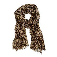 love this lightweight leopard print scarf