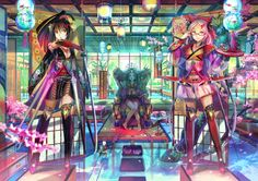 Anime Original  Girl Colorful Anime Kimono Wallpaper