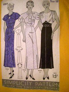 1930s #1930s #dresses #pattern #vintage #keyhole #stripes