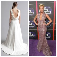 """Snag Kelly Pickler's #cmtawards cowl look with our @Alyne Bridal """"Mae"""" gown xo"""