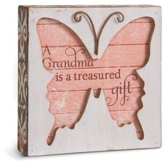 Grandma Butterfly Plaque