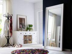 Vidaxl Standspiegel Kunstleder 45 x 150 cm Silbern Glänzend Vidaxlvidaxl - Mdf Frame, Cool Mirrors, Wall Mirror, Hygge Home, White Furniture, Wall Colors, Scandinavian Design, Teak, Luxury Homes