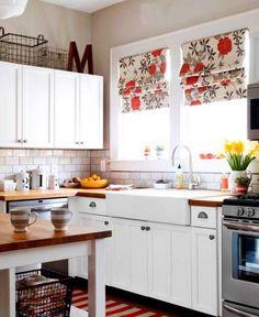 Meg Stein's redecorated kitchen.