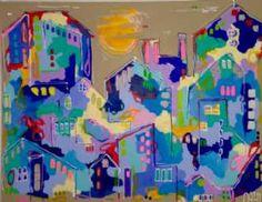 Kunstsamlingen | Artist: Smilla Daisy Dahl | Title: Let The Sun Shine | Height: 100cm,  Width: 130cm | Find it at kunstsamlingen.com #kunstsamlingen #kunst #artcollection #art #painting #maleri #galleri #gallery #onlinegallery #onlinegalleri #kunstner #artist #danishartists #smilladaisydahl
