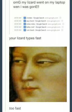 Typing lizard