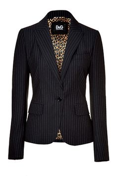 LOVE jackets! Thrifted this same look by DOLCE & GABBANA  - Navy Pin Stripe Blazer - for a fraction!