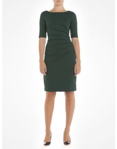 Fitted Ponte dress with pleats at the waist - Green Effortless dresses - Jacob $69.90 (I'm not a fan of the pleats but it's a gorgeous colour and cut.)