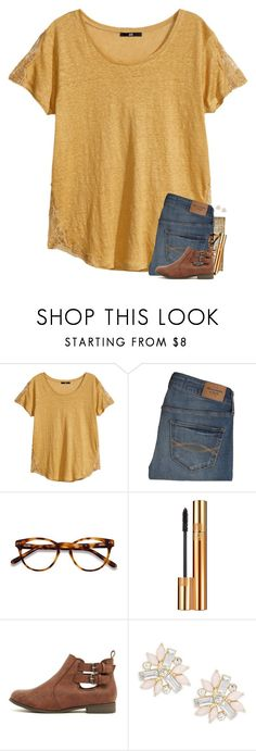 """""""2018s just around the corner and it felt like 2016 was just yesterday"""" by lanegrahamm ❤ liked on Polyvore featuring H&M, Abercrombie & Fitch, EyeBuyDirect.com, Yves Saint Laurent and Cara"""