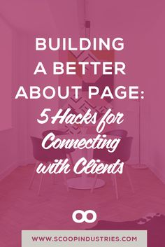 About pages consistently rank as one of the most visited pages on most web sites. Read on for five hacks from a copywriter to build a better about page.
