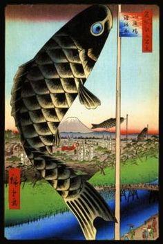 Suido Bridge and Surugadai, Ando Hiroshige. As a Liberty Puzzle. Want.