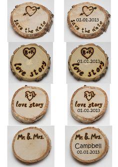 wedding magnets 3 pcs rustic magnets wood wedding by EcoWood, $9.00