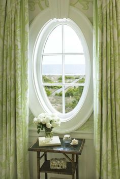 Design Crush: Terry Sullivan Interiors - The Glam Pad White Cottage, Cozy Cottage, Cottage Style, Ventana Windows, Window View, Allegra's Window, Window Curtains, Through The Window, Windows And Doors