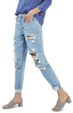 d6387e032629 Topshop Women s  Hayden  Super Ripped Boyfriend Jeans Ripped Boyfriend Jeans,  Ripped Jeans,