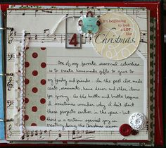 Love the music page - could I find an old Christmas carol book at a thrift shop, etc.? #SimpleDecDaily