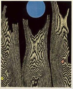 'Forêt et soleil', Oil by Max Ernst (1891-1976, Germany)