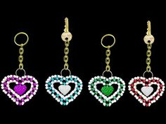 How To Make Keychains At Home ||  UNIQUE Key chain || Crystal Beads Keychain || ♥Heart♥ Shape - YouTube