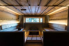 The sauna in Villa Juhani, Nuuskio National Park, Finland. Helsinki, Eames, Finland, National Parks, Modern Cabins, Villa, Luxury, Fork, Villas