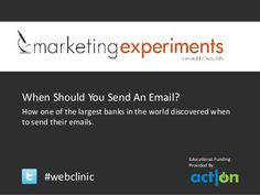 When Should You Send an Email? by Act-On Software, via Slideshare