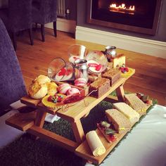 At Tom Brown's Brasserie in Gunthorpe your afternoon tea will arrive on a mini picnic table.