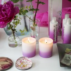 Designers Guild First rose candles