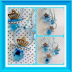 12 Royal blue baby shower pacifiers Little by Marshmallowfavors Baby Shower  Princess 07fdfeacb