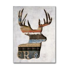 For the hunting lodge or luxury gift for him, this original deer art features reclaimed wood, vintage rulers, and old metal signs inside deer silhouette.....i think i would like to try making something like this, i'm prob crazy though