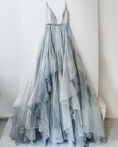 Amazing Flowy blue grey maxi dress