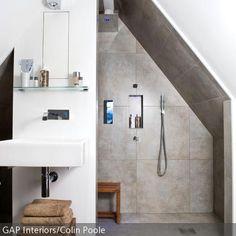 Aménager Une Salle De Bain Moderne   30 Idées Et Conseils | Attic Bathroom,  Interiors And Attic