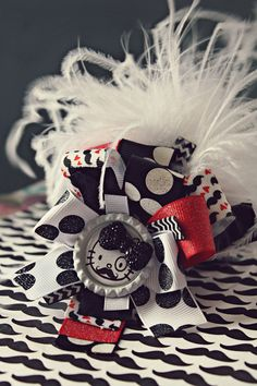 Hello Kitty Funky Loopy Bow on Etsy, $14.00