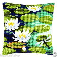Water Lilies Chunky Cross Stitch Cushion Front Kit 40x40cm Vervaco