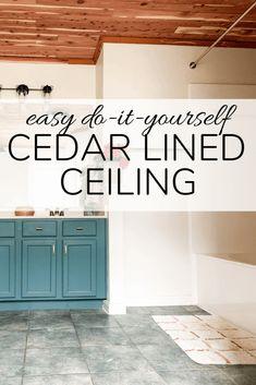 #DIYCedar: Return of the Cedar Lined Ceiling | CedarSafe Clever Diy, Easy Diy, Wood Plank Ceiling, Cedar Planks, Diy Candle Holders, Storage Hacks, Old Doors, Home Made Soap, Diy Room Decor