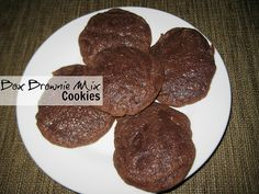 Box Brownie Mix Cookies #thanksgiving #gifts #christmas #holidays #food