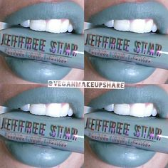 @jeffreestarcosmetics Vegan+Cruelty-Free #velourliquidlipstick Limited Edition  Dirty Money  With attitude!  taken with Ring light. This color is a gray/ green Unboxing & swatches in...