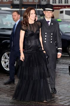Crown Prince Frederik of Denmark and Crown Princess Mary of Denmark attended the gala celebration at the Hotel d'Angleterre on the occasion of the hotel's 260 year anniversary on April 25, 2015 in Copenhagen, Denmark