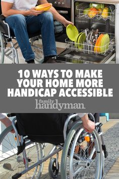 When someone needs more space to maneuver a wheelchair around the house, here are 10 ways to make your home more handicap accessible. Handicap Ramps, Handicap Accessible Home, Wheelchair Ramp, Powered Wheelchair, Handicap Accessories, Wheelchair Accessories, Handicap Bathroom, Aging In Place, Senior Living