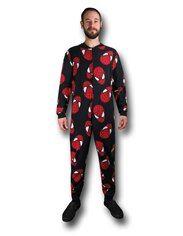 Spider-Man Heads Adult Onesie Pajamas