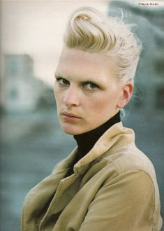 kim iglinksy by peter lindbergh for marie claire october 1996.