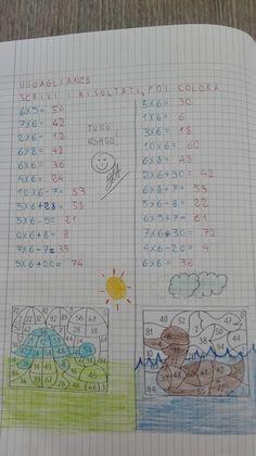 Classe Seconda-Matematica-La tabellina del 7 - Maestra Anita Math School, Notebook, Bullet Journal, Learning, Books, Kids, Maths, Yoga Fitness, Mental Calculation