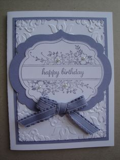 WISTERIA WONDER BIRTHDAY Card Kit (4 cards lot), Stampin up Apothecary Art